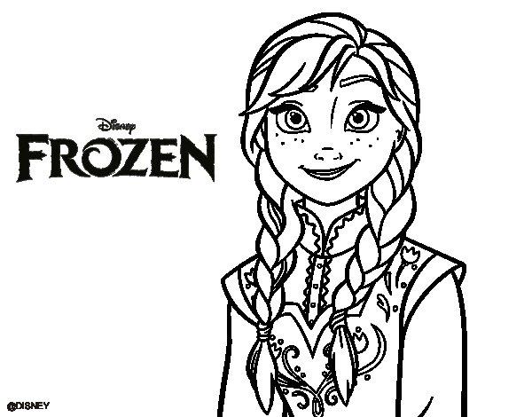 Imgenes para colorear de Frozen para descargar e imprimir