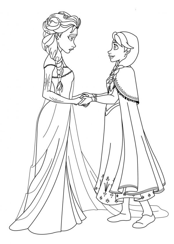 Excepcional Princesa Para Colorear Páginas Congeladas Ana ...