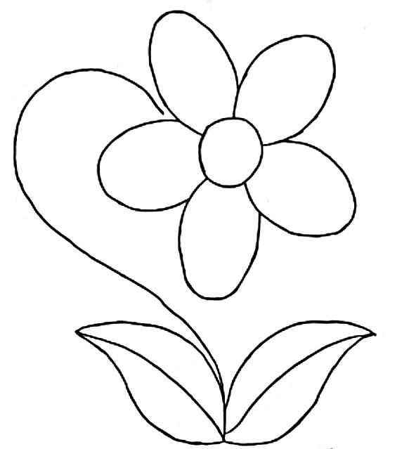 Flores para colorear f ciles dificiles y hermosas for Dibujo de una piedra para colorear