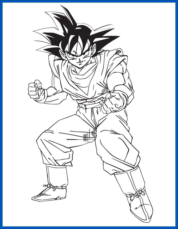 Im genes de goku y sus transformaciones para colorear for Figuras para calcar