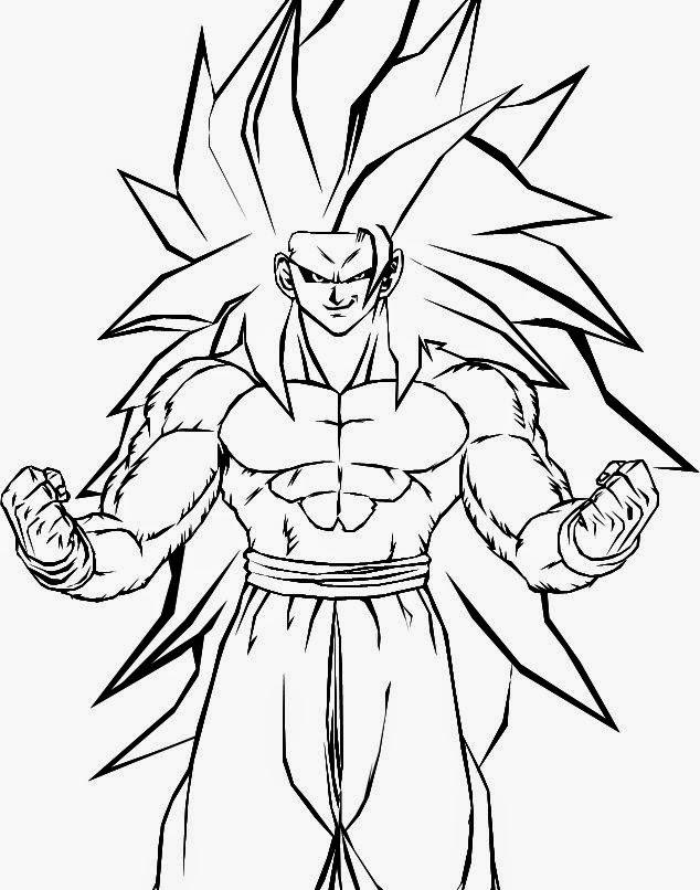 Imgenes de Goku y sus transformaciones para colorear  Colorear