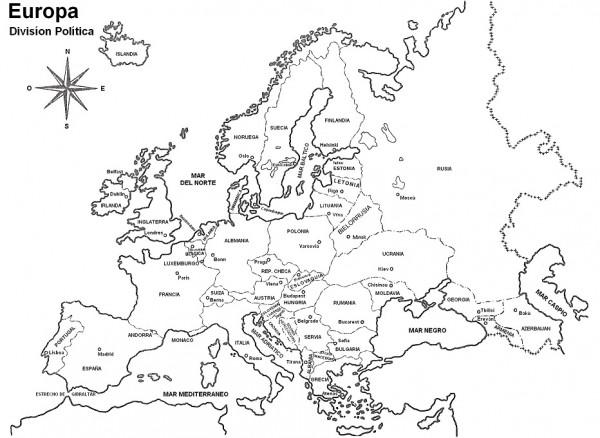 Dibujos de Mapas de Europa y paises para colorear  Colorear imgenes