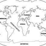 60 Mapas de paises y continentes para colorear con nombres
