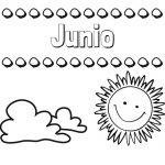 Imágenes del mes de Junio dibujos para colorear