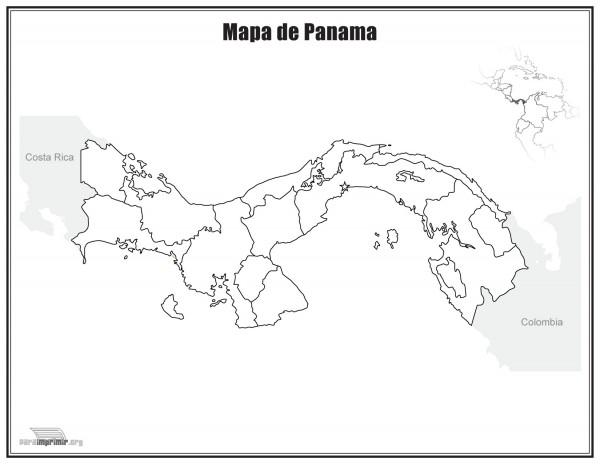 Imagen Con El Mapa De Panama Para Pintar