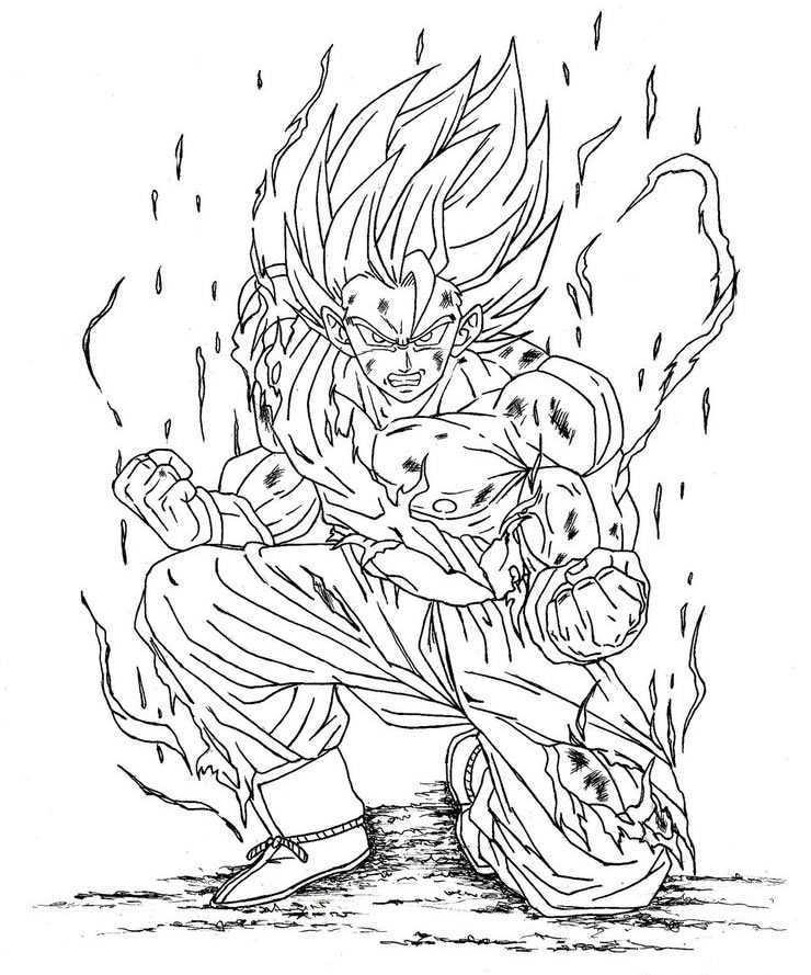Imagenes De Goku Y Sus Transformaciones Para Colorear on Dibujos Para Imprimir Gratis De Goku