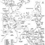 Dibujos de Mapas de Asia y Paises para colorear