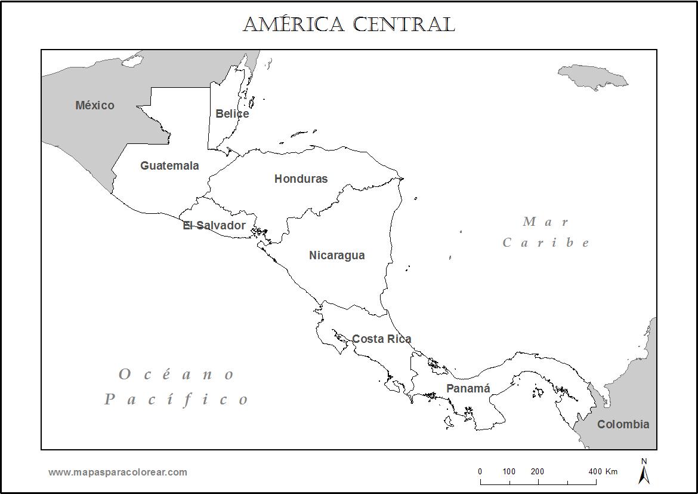 Dibujos de Mapas de Amrica y Paises para colorear  Colorear imgenes