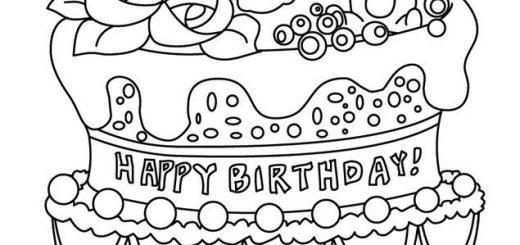 Feliz Cumpleaños Para Colorear: Imágenes Y Dibujos Para Colorear