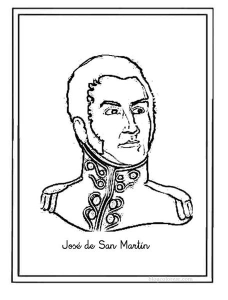Imgenes del General Jos de San Martn para colorear dibujos