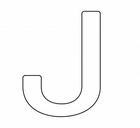 letras para colorear j