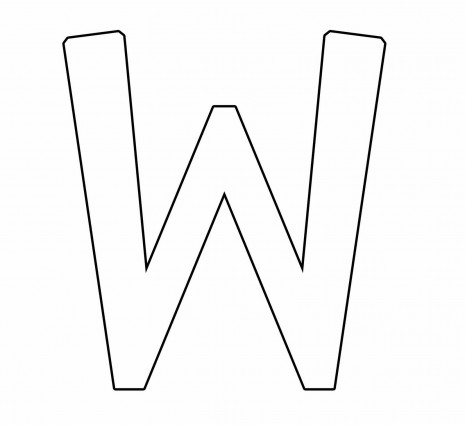 letras para colorear w