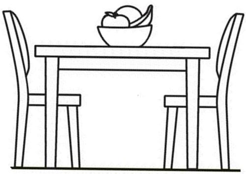 Muebles para colorear descargar e imprimir mobiliario for Comedor para colorear