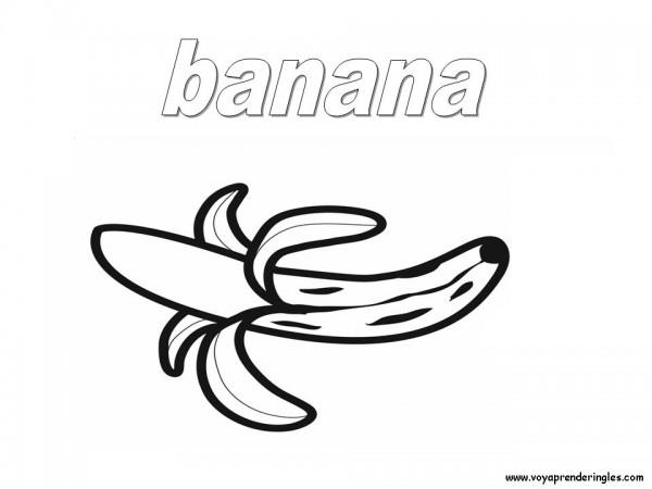 Dibujos de bananas para pintar   Colorear imágenes