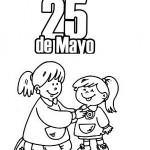 25 de Mayo para colorear