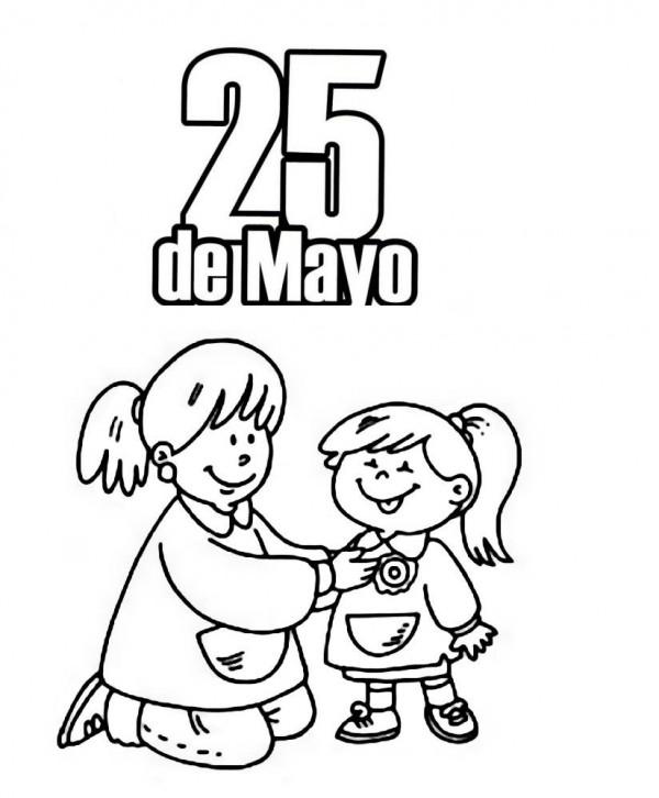 25 De Mayo Para Colorear Colorear Imágenes