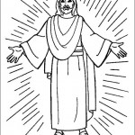 Jesús resucitando para colorear: Pintando a Jesús de Nazaret con sus doce apóstoles