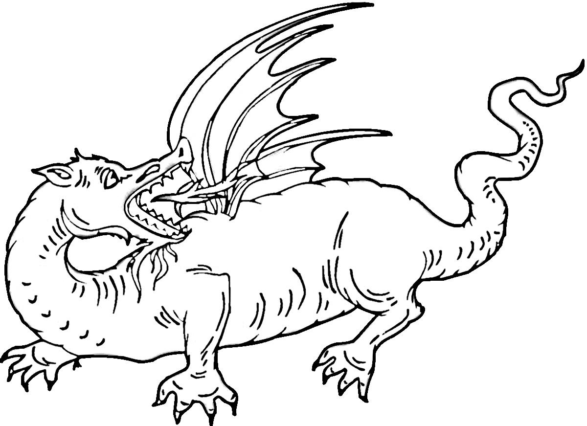 Dorable Dragón De Fuego Para Colorear Embellecimiento - Dibujos Para ...