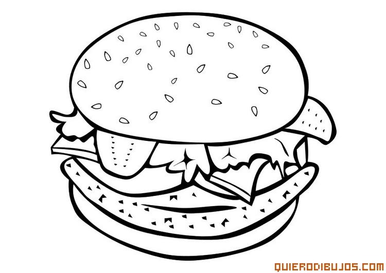 Dibujos de alimentos saludables para colorear | Colorear ...