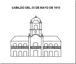DIBUJO DEL CABILDO DEL 25 DE  MAYO DE 1810_thumb