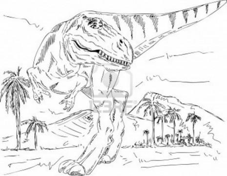 Dibujos de dinosaurios para imprimir y colorear - Www.10Pixeles.Com (12)