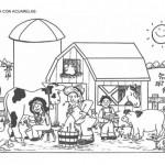 Divertite pintando la granja