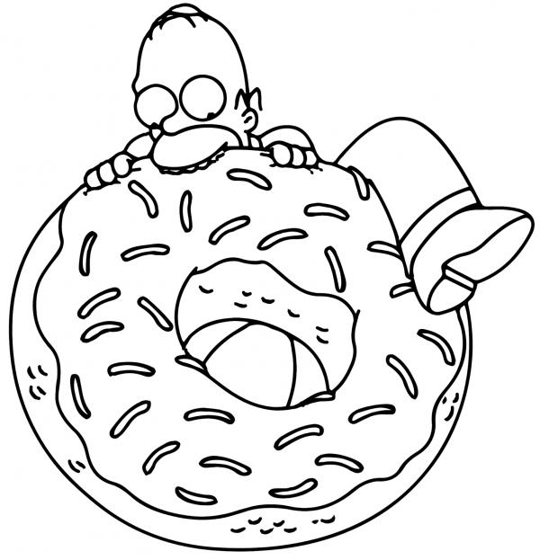 Para colorear Los Simpsons: Imágenes para descargar   Colorear