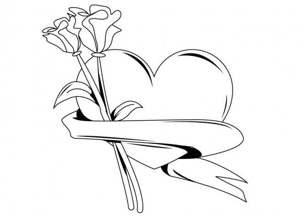Corazón para pintar | Colorear imágenes