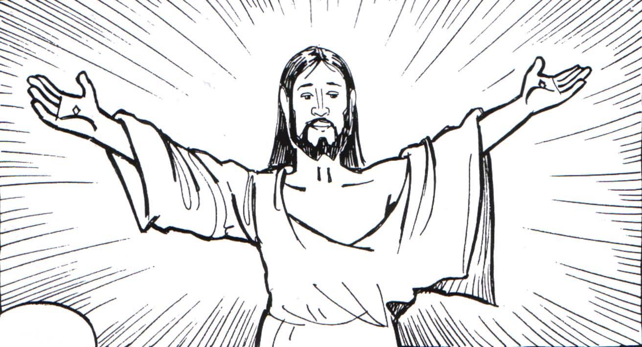 Jesús resucitando para colorear: Pintando a Jesús de Nazaret con sus ...