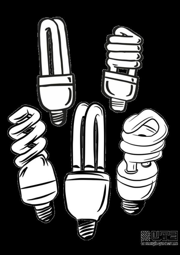 Electricidad Dibujos Animados Para Colorear