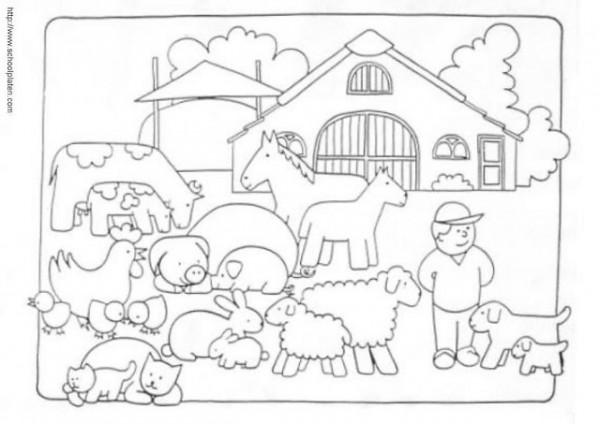 50 dibujos de granjas y animales para colorear colorear im genes - Casa rural la granja ...