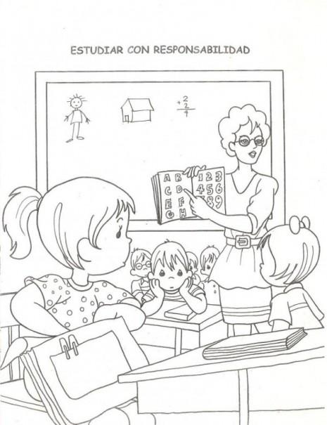 colorear-ninos-estudiando