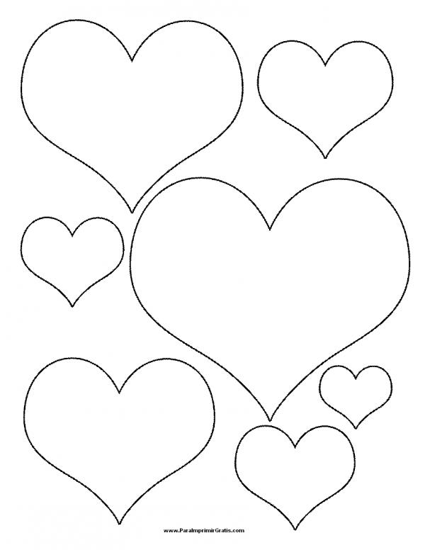 Dibujos de corazones de amor para imprimir y pintar colorear im genes - Dibujos originales para pintar ...