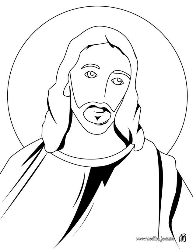 Line Drawing Jesus Face : Dibujos de jesús para imprimir y colorear imágenes