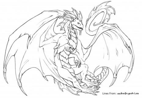 dibujos-de-dragones-para-colorear-fluorescent-colors-cmyk