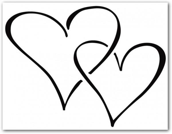 Dibujos de corazones de amor para imprimir y pintar | Colorear imágenes
