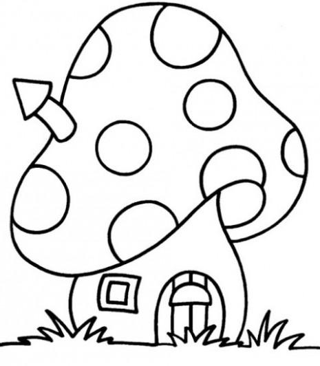 imagen-de-casa-en-forma-de-hongo-para-colorear