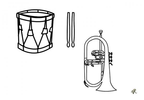 Dibujos De Letras Musicales Para Colorear: Instrumentos Musicales Para Colorear Y Pintar