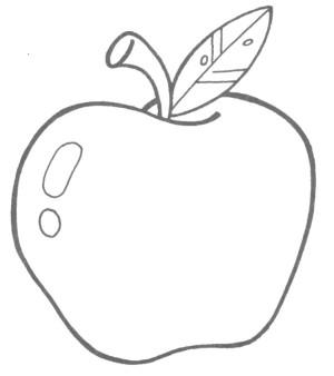 manzana-colorear-300x338