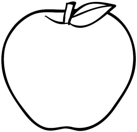 Manzana para pintar | Colorear imágenes