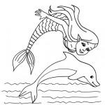 Sirenas para divertirse coloreando