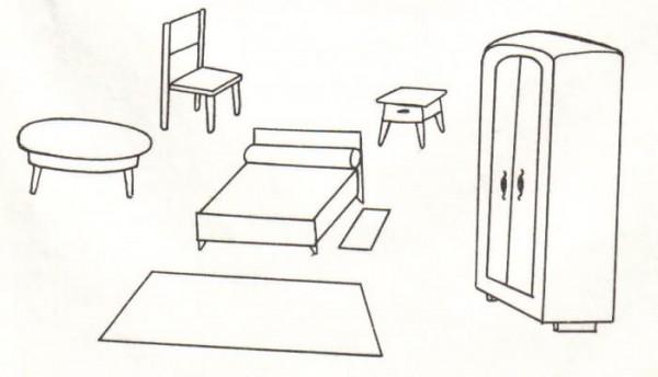 Muebles Para Colorear: Descargar E Imprimir Mobiliario