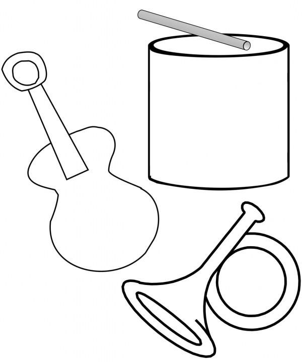 Instrumentos musicales para colorear y pintar | Colorear imágenes