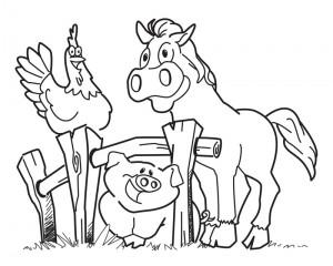 Dibujos-Animales-de-la-granja-para-colorear-300x240