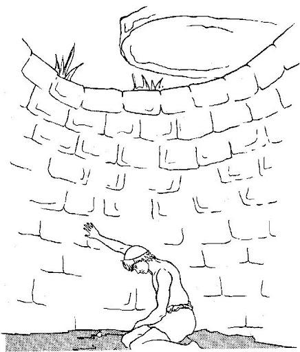 Dibujos Para Colorear De José en el pozo