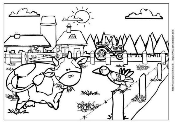 Dibujos De Tractores Para Imprimir Y Colorear: +50 DIBUJOS De GRANJAS Y ANIMALES Para COLOREAR