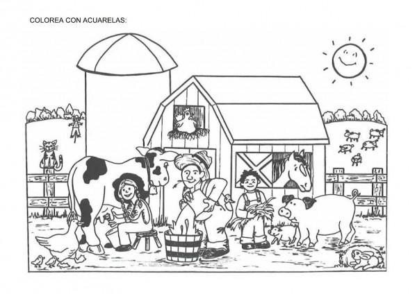 50 DIBUJOS de GRANJAS Y ANIMALES para COLOREAR | Colorear imágenes