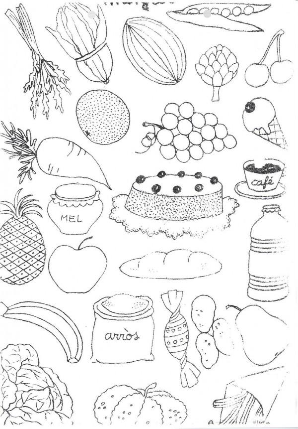 Dibujos De Alimentos Saludables Para Colorear Colorear