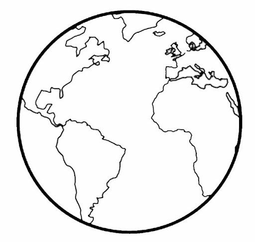 Mapas del mundo para descargar, imprimir y colorear | Colorear imágenes