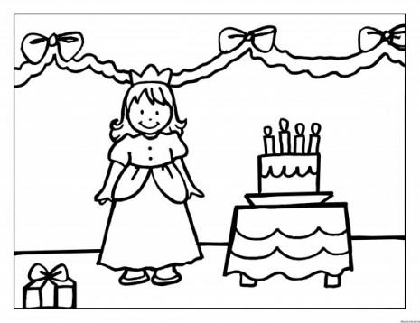 dibujo-colorear-30-princess-birthdat